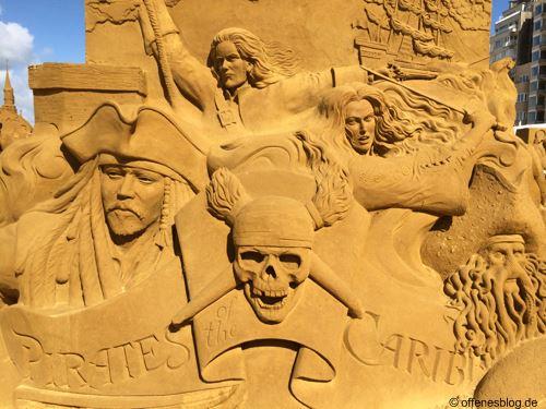 Sandskulpturen Fluch der Karibik