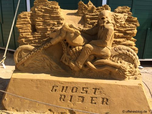 Sandskulpturen Ghostrider