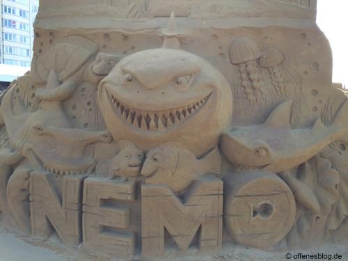 Sandskulpturen Nemo