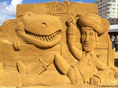 Sandskulpturen Toy Story