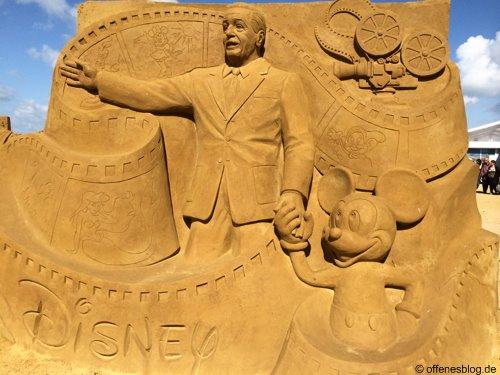 Sandskulpturen Walt Disney