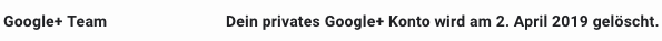 Google+ offenesblogde gelöscht