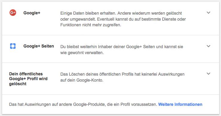 Google+ offenesblogde Profil löschen