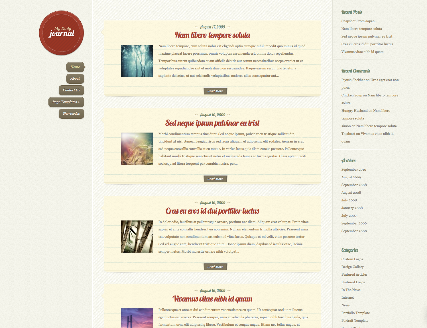 Daily Journal Elegantthemes