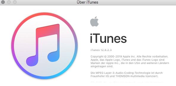 iTunes 12.8.2.3