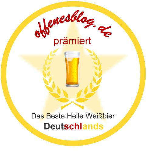 offenesblog.de GOLD prämiert - Bestes Helles Weißbier Deutschlands