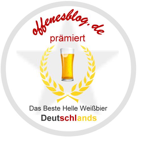 offenesblog.de BRONZE prämiert - Bestes Helles Weißbier Deutschlands