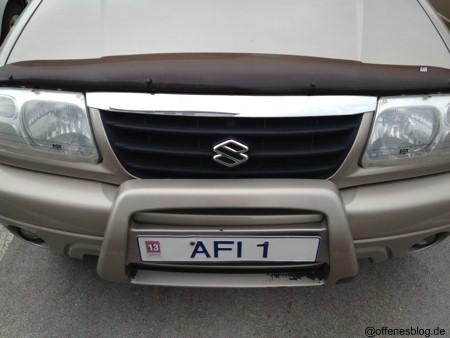Island Kennzeichen Afi1