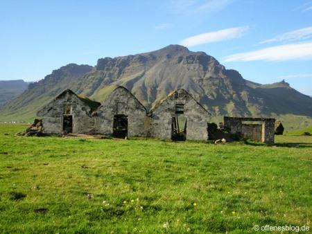 Haudruinen in Island