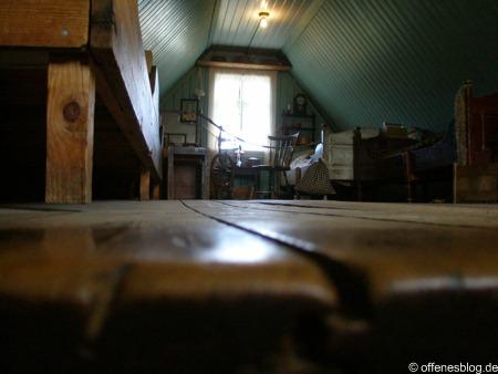 Das Innere eines isländischen traditionellen Haus