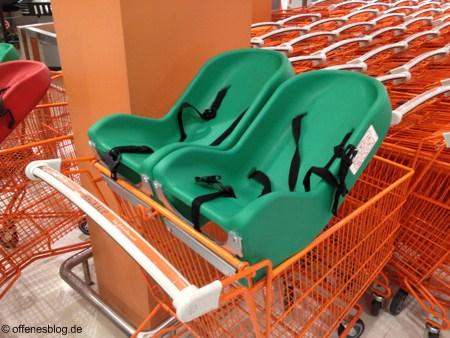 Zwillings-Einkaufswagen