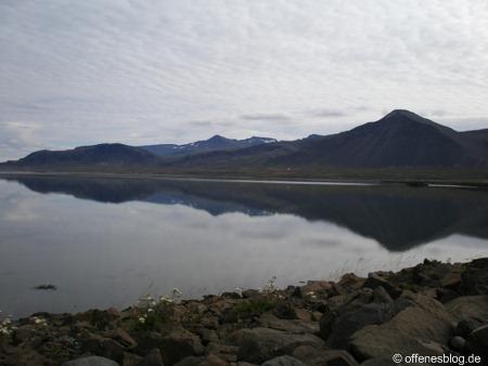 Borgarnes Bergspiegelung