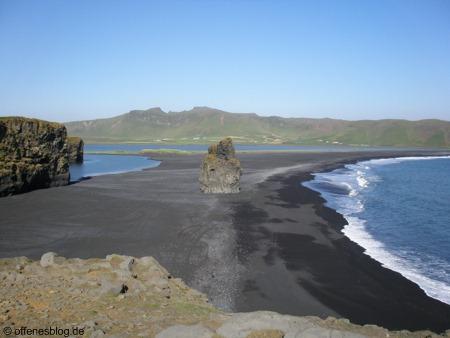 Vík schwarzer Strand