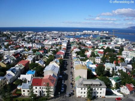Ein Ueberblick auf Reykjavik