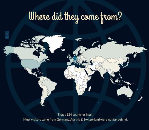 offenesblog.de 2012 und die Herkunft der Besucher