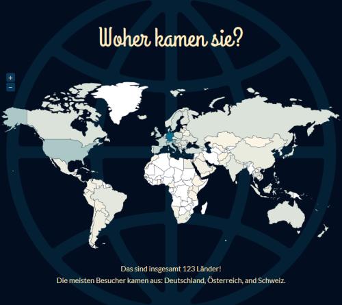offenesblog.de 2013 und die Herkunft der Besucher