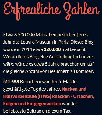 Erfreuliche Zahlen 2014 - offenesblog.de by WordPress.com