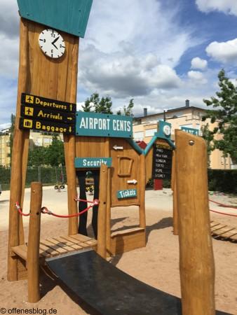 Spielplatz Flughafen Zoll